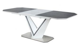 Jídelní stůl rozkládací VALERIO CERAMIC šedá/bílý mat