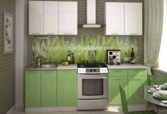 Kuchyně VEGA 180 bílý/sv.zelený metalic