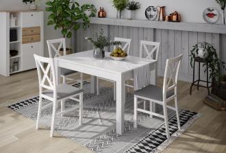 Jídelní stůl rozkládací LIONI 2 bílá mat