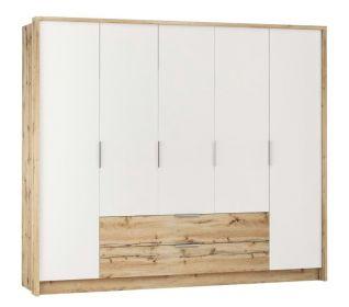 Šatní skříň VALTURA 255 dub wotan/bílá
