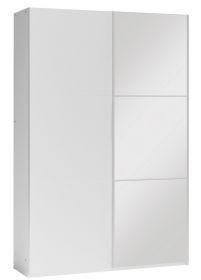 Šatní skříň VALERIANO 120 bílá/bílá