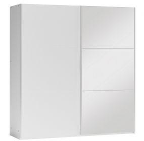 Šatní skříň VALERIANO 200 bílá/bílá