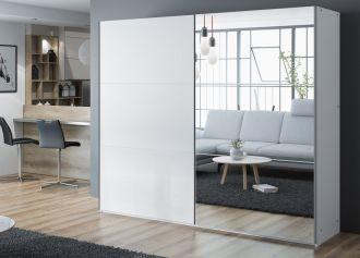Šatní skříň VALERIANO 250 bílá/bílá