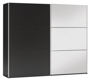 Šatní skříň VALERIANO 250 černá/černá