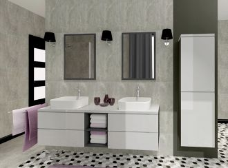 Koupelnová sestava GRANDE II bílá lesk
