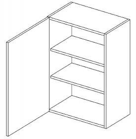 W45 horní skříňka jednodvéřová MIA levá picard/bílá