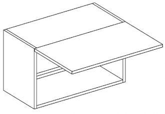 W60OKGR skříňka nad digestoř LUCIA černá mat