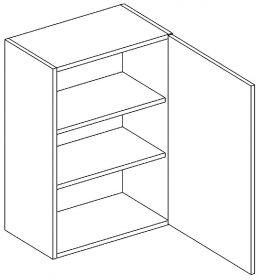 W60 horní skříňka jednodveřová pravá PAULA šedá/mat. šedá