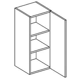 W30 horní skříňka jednodvéřová BIANCA pravá