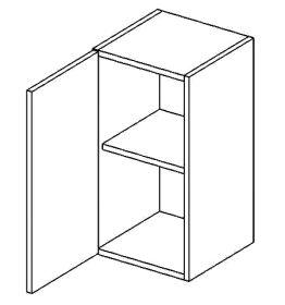 W40L horní skříňka jednodvéřová PREMIUM olše