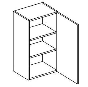 W40 horní skříňka jednodvéřová BIANCA pravá
