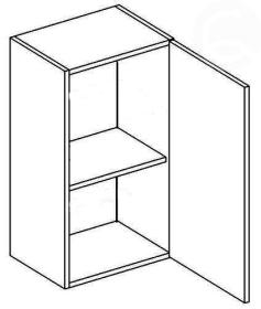 W40P horní skříňka jednodvéřová NORA de LUX hruška