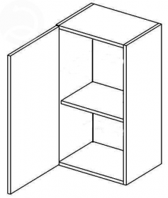 W50L horní skříňka jednodvéřová NORA de LUX hruška