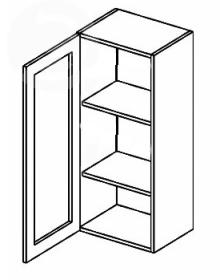 W40WL/120 horní vitrína jednodvéřová MERLIN čiré sklo