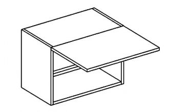 W50OKGR skříňka nad digestoř PAULA šedá/mat. šedá