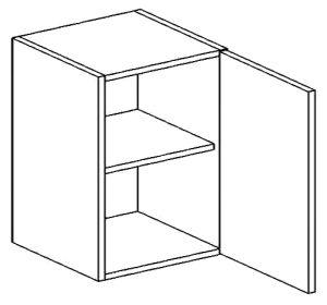 W60P horní skříňka jednodvéřová PREMIUM de LUX olše