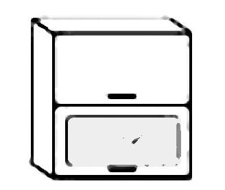 W60SP horní skříňka výklopná NORA hruška