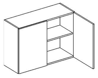 W80 horní skříňka dvoudvéřová NORA hruška