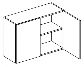 W80 horní skříňka dvoudvéřová PREMIUM olše