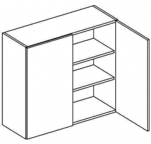 W80 horní skříňka dvoudveřová MIA picard