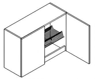 W80SU/58 horní skříňka s odkapávačem MORENO picard