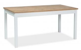 Jídelní stůl rozkládací WIKTOR 140x75 bílá/dub lancelot