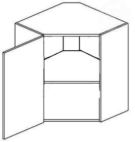 WR60L horní skříňka rohová NORA de LUX hruška