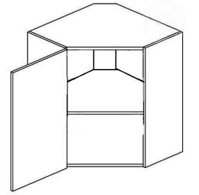 WR50L horní skříňka rohová MERLIN