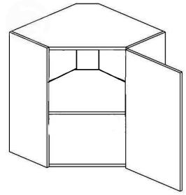 WR50P horní skříňka rohová NORA de LUX hruška
