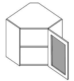 WR60WMR horní vitrína rohová PREMIUM de LUX olše mraž. sklo