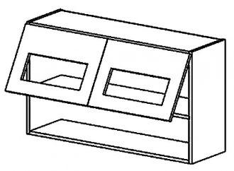 WS100/58 PD horní vitrína výklopná MORENO picard