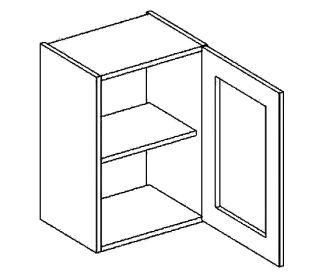 W40WP horní vitrína jednodvéřová PREMIUM de LUX olše čiré sklo
