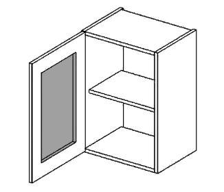 W40WLMR horní vitrína jednodvéřová PREMIUM de LUX olše mraž. sklo