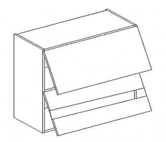 WS60GRF2 SP horní skříňka dvojitá výklopná MIA picard/bílá