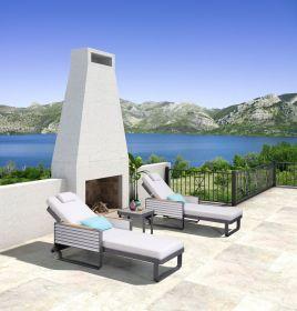 SET luxusní lehátko+stolek AIRPORT