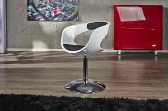 židle GAMBLER BLACK&WHITE