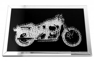 obraz s krystalyMOTORCYCLE 90-CM