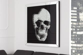 obraz zrcadlový MIRROR SKULL 100-CM