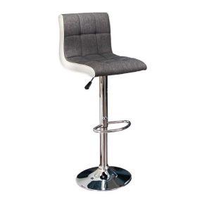 Barová židle MODENA WHITE-GREY