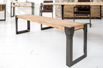 stolová lavice FACTORY 160-CM pravá akáciová dýha