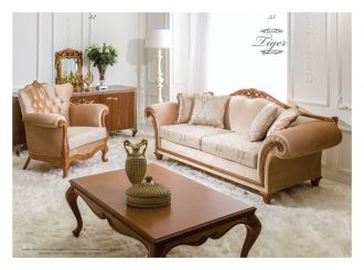 luxusní sedací souprava 3 SET TIGER LUXUS