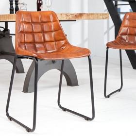 židle TAURUS BROWN, pravá kůže
