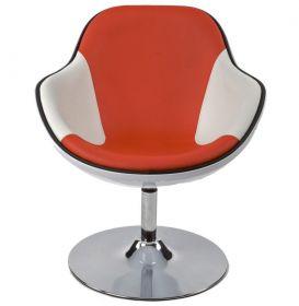 židlo-křeslo DAYTONA WHITE RED