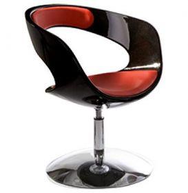 židle KIRK BLACK RED