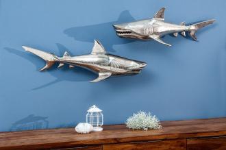 2SET nástěnná dekorace SHARK 70-CM