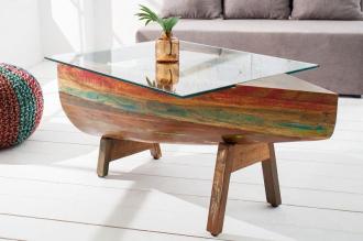 konferenční stolek BORNEO 100-R masiv recykl