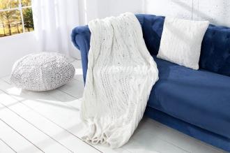 pletená deka COSY WHITE