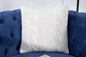 polštářek pletený COSY WHITE