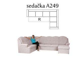 sedací souprava BONDY 249 rozkládací + úložný prostor, L 3/3 provedení