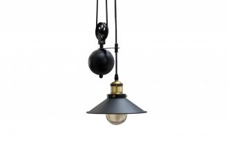 Stropní svítidlo FACTORY ROPE BLACK-GOLD